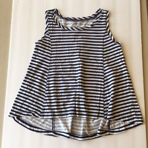 Gymboree size 5 navy striped loose fit tank top